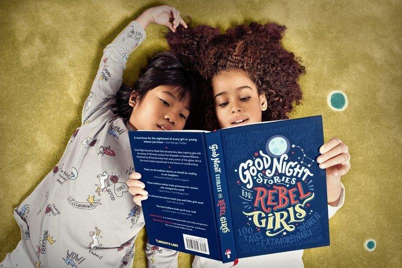 來一本以女生為主角的冒險床邊故事吧!她們這樣寫故事,要小女孩們把夢想做大
