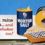 你有注意到嗎?每天炒菜都會看到的撐傘小女孩100歲了:Morton Salt Umbrella Girl