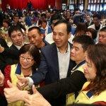 村里長與3位總統候選人有約,藍熱綠冷