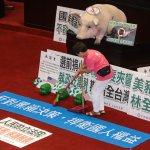 抗議美豬群眾中午解散 林全施政報告延至下午
