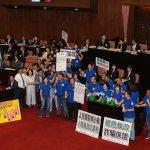 藍營高喊「國民黨開戰」阻林全報告 立院議事癱瘓