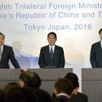 中日韓外長對談》譴責北韓再次試射飛彈 盼年內促成3方領袖會談、自由貿易協定