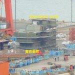 網傳吊裝艦島照片 中國首艘國造航艦即將下水?
