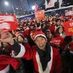 聖誕前夕韓國總統朴槿惠遭到「聖誕老人」抗議