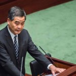 香港特首梁振英發表最後施政報告 再指香港沒有空間獨立
