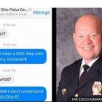 警察耐心為學童解答數學作業 獲網友點讚