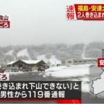 日本福島縣山區也傳雪崩!六旬登山客脫身報案 七旬同伴心肺停止