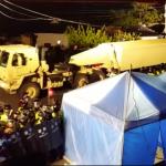薩德的「閃電夜襲」美韓強力排除抗議民眾,薩德組件運進部署用地