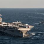 卡爾文森你終於來了!美核動力航母與南韓神盾艦會師朝鮮半島海域