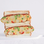 吃膩了一成不變的早餐?快把這2種創新三明治學起來,光看斷面就萌到口水直流