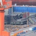 大連造船廠又現疑似航母分段組件 中國可能開建第四艘航母