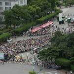 反亞泥遊行》8千人凱道排出台灣圖像 要蔡英文「再次看見台灣」