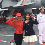 只因參觀遼寧艦大讚「中國人強」她身分竟遭起底
