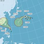 尼莎週末撲台,最快今夜增強為中度颱風