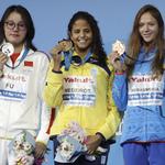 「洪荒少女」傅園慧世錦賽50米仰泳只拿銀牌 痛哭稱「這是個心碎的結果」