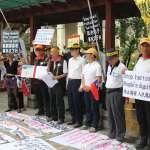 世大運開幕,反年改團體抗議!「蔡英文只會製造仇恨,鬥爭是她的本質」