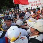 世大運開幕前「快閃抗議」 民團:我們是台灣隊、不是中華台北