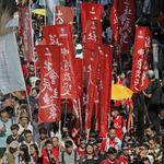 聲援「雙學三子」香港人遊行高喊「政治迫害可恥,釋放政治犯」