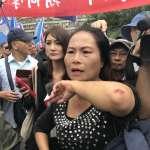 「不流血不殺人革命不會成功!」八百壯士攻行政院 衝撞警方怒罵連連