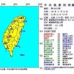 深夜規模5.5地震 震央在嘉縣阿里山鄉