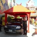 全台唯一神轎結合3D彩繪汽車過火 台中宮廟本周末免費服務
