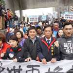 台中反空污大遊行》國民黨趁機動員造勢 民眾不滿怒嗆「這裡不是收割的秀場!」