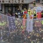 寒風中夜宿抗爭暫告段落 勞團撒冥紙怒吼:全台罷工、拒投民進黨
