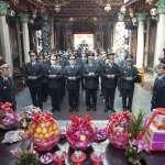 竹市消防弟兄赴天公壇上香 祈求國泰民安值勤平安