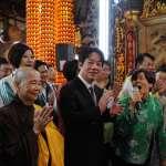 賴清德回「娘家」台南發紅包 民眾排長龍搶合照