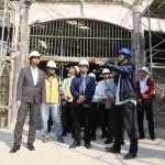 視察西門市場及香蕉倉庫修復工程 李孟諺盼提升商圈歷史地位