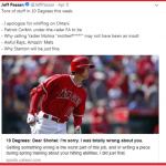 MLB》先前狠酸大谷 美體記作家公開認錯
