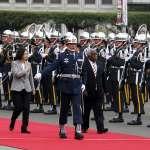 軍禮歡迎索羅門群島總理 蔡英文:感謝在WHA為台灣發聲