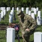 「我愛你,對不起,我每一天都想念你」阿靈頓國家公墓儀仗衛隊向陣亡軍人「插旗」致意