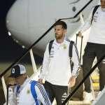 世足》阿根廷搭滾石合唱團私人飛機 梅西降落俄羅斯