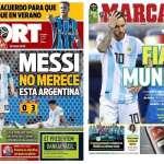 世足》阿根廷慘敗 拉丁媒體:阿隊配不上梅西