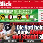 世足賽果》E組:瑞士絕殺球氣走塞爾維亞,與巴西並列領先