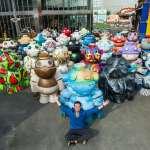 暑假限定!30座2米高彩繪機器人作客新竹新瓦屋