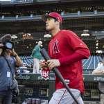 MLB》大谷翔平重返球場 擔任指定打擊吞2張老K