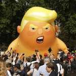 美國總統訪英.引爆全民示威》「川普巨嬰」氣球飛上倫敦天空「一個自尊心脆弱、手手很小的憤怒嬰兒」
