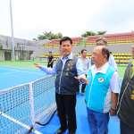 視察網球中心嘆中共打壓 林佳龍:努力保年輕選手參賽權利