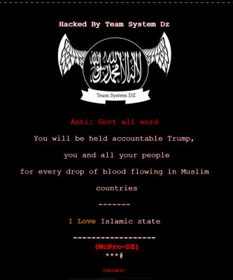 「我愛伊斯蘭國!」俄亥俄州政府官網遭駭客入侵,首頁被換黑色文宣