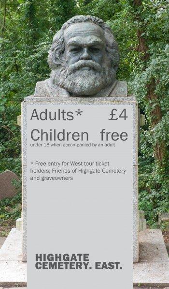 位於海格特墓園(Highgate)的入園收費標準,想參觀馬克思就得付錢。(取自Highgate Cemetery官網)