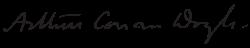 柯南道爾的簽名(Wikipedia/Public Domain)