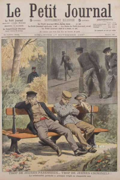 100 年前對懶惰的污名化:「太多懶童……太多犯罪兒童!」(圖/Cent ans,*CUP提供)