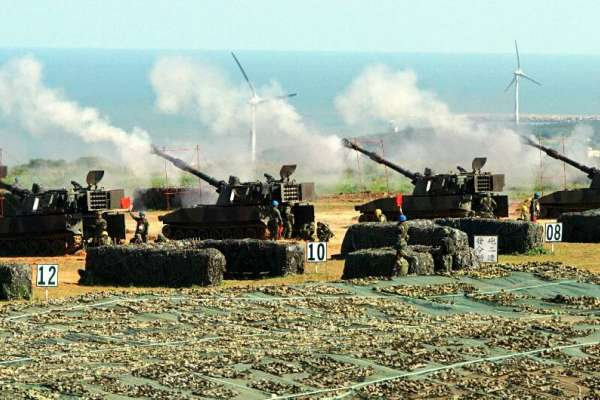 星光部隊砲聲震天受不了!新豐坑子口自救會「民怨飛彈」砲打新加坡國旗