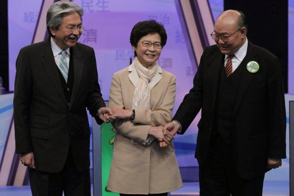 香港特首選舉今天投票 曾俊華、林鄭月娥、胡國興角逐大位