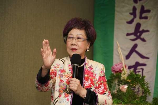 「民進黨除了陳水扁從來沒有膽識挑戰台北」呂秀蓮:該是要讓女性治理台北了