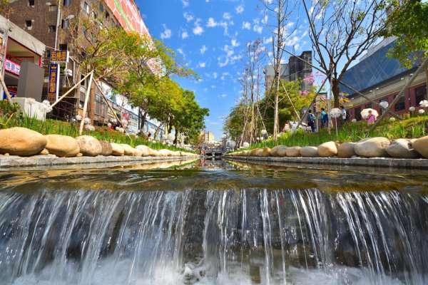 利用石頭、微生物處理污染 台中綠川「神奇工法」讓水變清澈