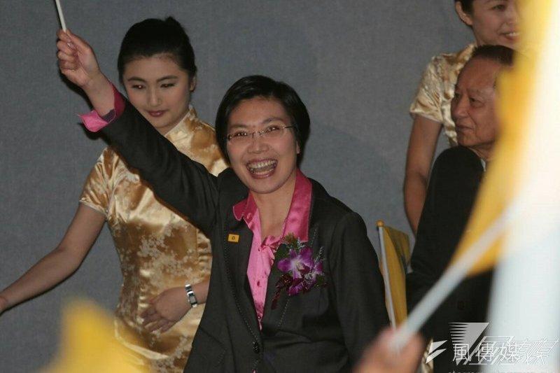 立委徐欣瑩退出國民黨之後,另組民國黨。(余志偉攝)