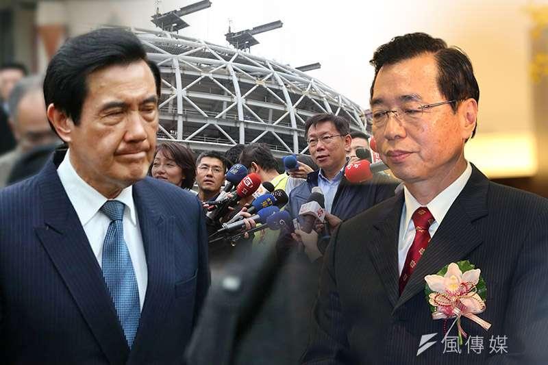 台北市廉政委員會大巨蛋報告出爐,建議移送總統馬英九(余志偉攝)及前台北市財政局長李述德(吳逸驊攝)。
